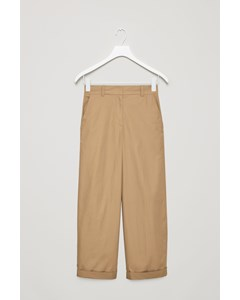 Cotton Trousers Beige