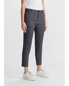 Krissy Trouser Dk Grey Dogtooth