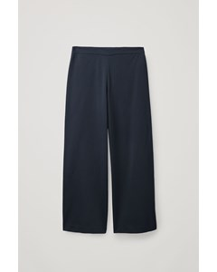 Wide Leg Trousers Navy