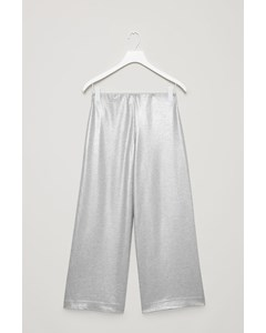 Foil-coated Jersey Trousers