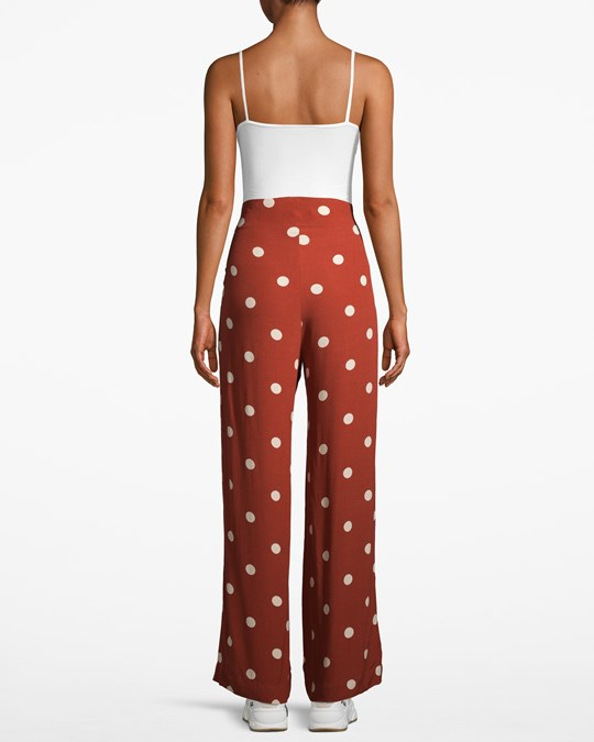 JUST Female Caia Trousers Red Polka Dot