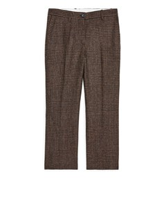 Tweed Trousers Brown Tweed