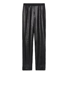 Matte Sequin Trousers Black