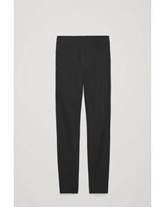 Slim Cotton-twill Trousers Black