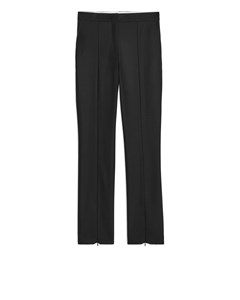 Slim Stretch Wool Blend Trousers Black