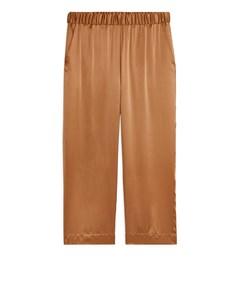 Silk Pyjama Trousers Ochre