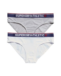 Tri Athletic Brief Double Pack Grey Marl/optic
