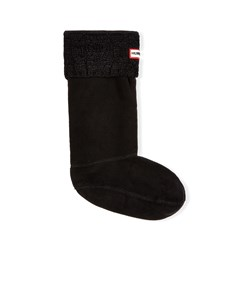Hunter Dualcableknit Bootsock Black