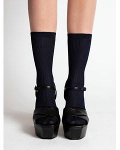 Mini Ribbed Ankle Socks Navy