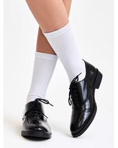 Metallic Ribbed Sock White/silver