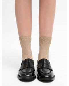 Pointelle Ankle Socks Sand/gold