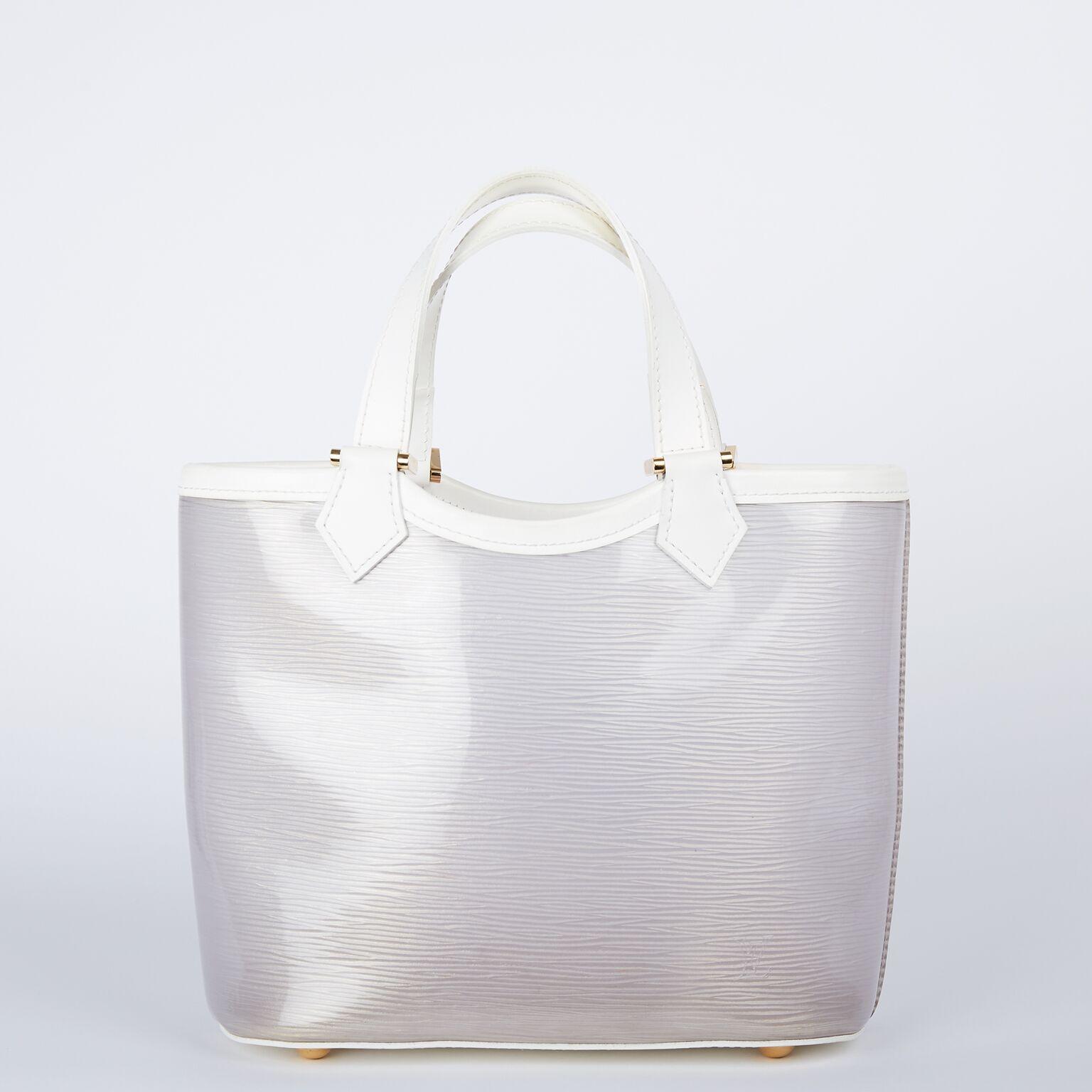 Louis Vuitton Plage Lagoon White Vinyl Epi Mini Beach Tote - b977df3ee4c02