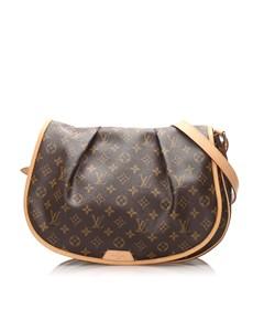 Louis Vuitton Monogram Menilmontant Mm Brown