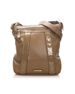 Burberry Leather Crossbody Bag Brown