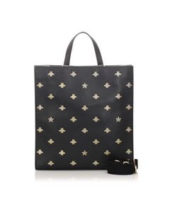 Gucci Bee Star Tote Bag Black