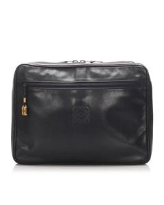 Loewe Leather Clutch Bag Black