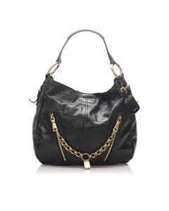 Prada Vitello Daino Leather Shoulder Bag Black