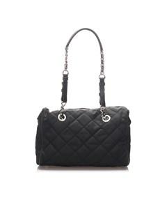 Prada Tessuto Chain Shoulder Bag Black