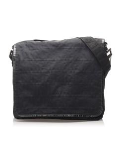 Fendi Zucca Canvas Crossbody Bag Black
