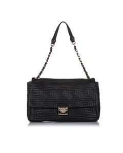 Versace Quilted Leather Shoulder Bag Black