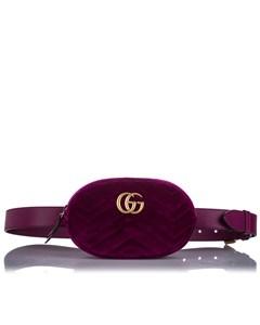 Gucci Gg Marmont Velvet Belt Bag Pink