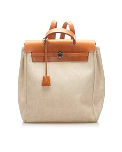 Hermes Herbag Backpack Brown