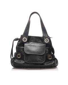 Loewe Leather Shoulder Bag Black
