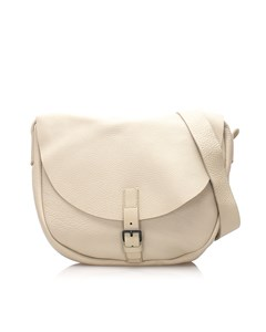Miu Miu Leather Crossbody Bag White