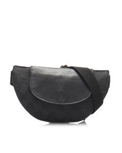 Gucci Gg Canvas Belt Bag Black
