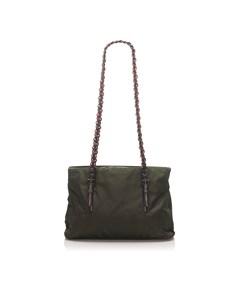 Prada Tessuto Chain Tote Bag Black