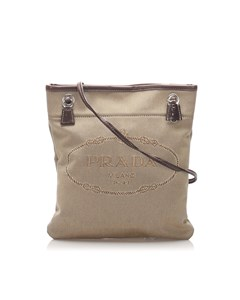 Prada Canapa Crossbody Bag Brown