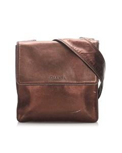 Chanel Suede Crossbody Bag Brown