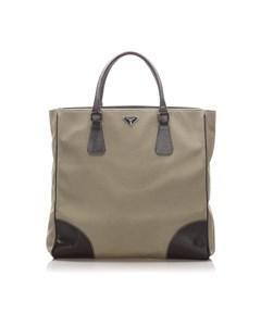 Prada Canapa Tote Bag Brown