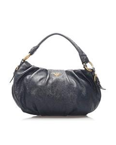 Prada Patent Leather Shoulder Bag Blue