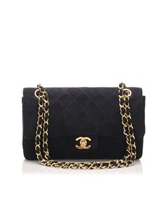 Chanel Classic Small Suede Double Flap Bag Black